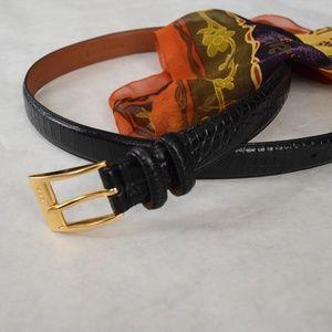 Vintage RL genuine reptile leather black belt